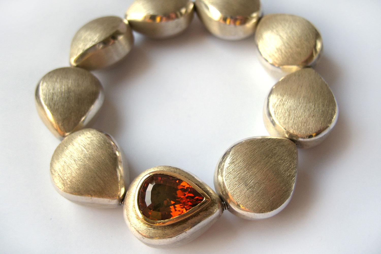 Armschmuck Silber und Gold mit Citrin
